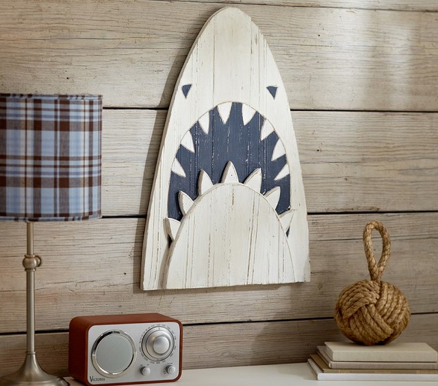Shark Head Plaque - Contemporary - Artwork - by Pottery Barn Kids