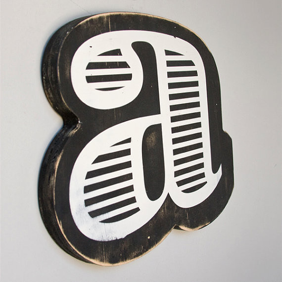 Screen Printed Wood Letter by EdiesLab contemporary-wall-letters