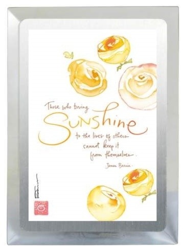 4 x 6 Inch White and Yellow Sunshine Musical Frame with Light Edges eclectic-prints-and-posters