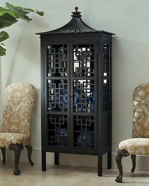 Oscar de la Renta Collection Pagoda Bar Cabinet asian bookcases cabinets and computer armoires