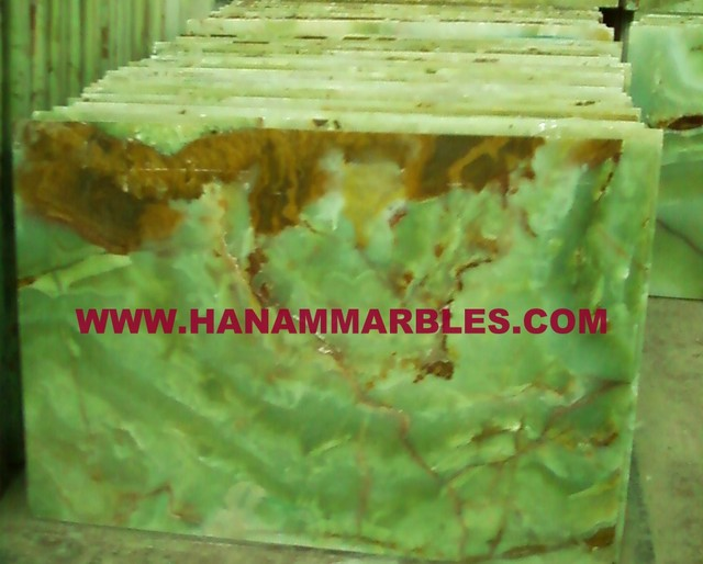 Afghan Green Onyx Tiles modern-tile