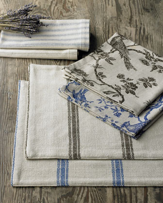 French Laundry Home Four Toile Napkins traditional-napkins