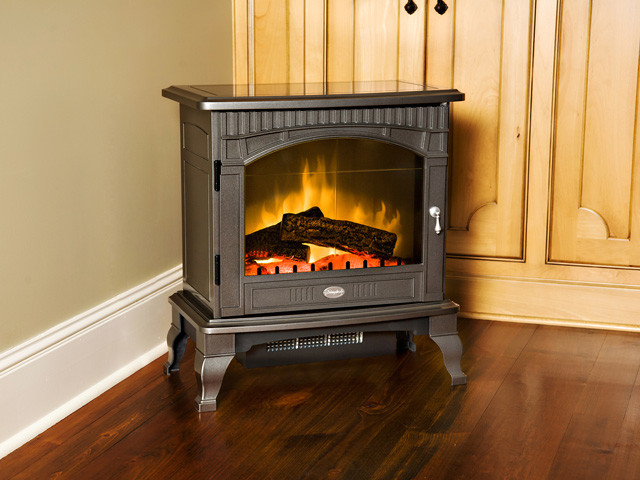 Dimplex Lincoln Pewter Electric Wood Stove with Remote Control - DS5629GP traditional-fireplaces