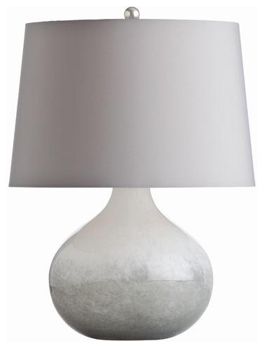 Arteriors Sully Gray And White Spattered Cased Glass Lamp