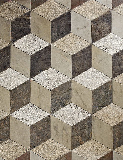 Antique reclaimed 3d floor tiles traditional wall for 3d flooring uk