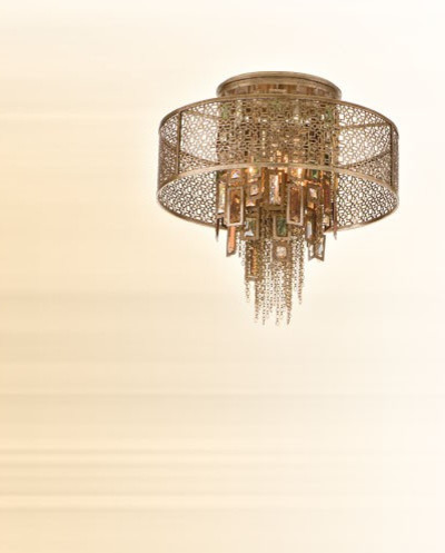 Riviera Four Light Semi-Flush - eclectic - ceiling lighting - by ...