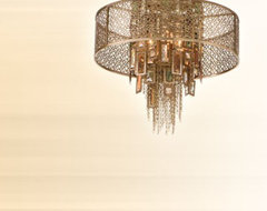 Riviera Four Light Semi-Flush eclectic ceiling lighting