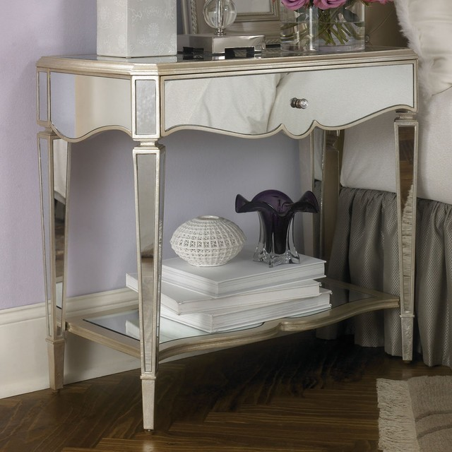 jessica mcclintock mirrored nightstand nightstands and bedside tables