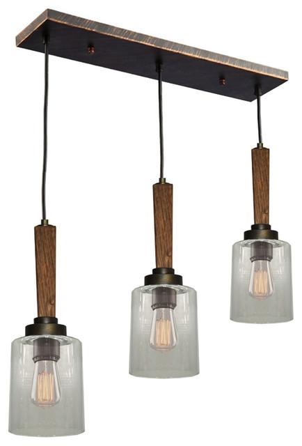 Artcraft ac10143bb legno rustico island light rustic for Houzz rustic lighting