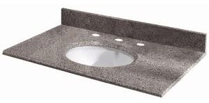 "Pegasus 49603 Granite Stone 49"" Vanity Top in Napoli with White Bowl traditional-vanity-tops-and-side-splashes"