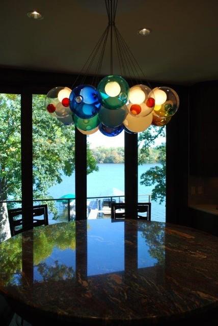 Midwest Lake Home Lighting Design transitional-lighting