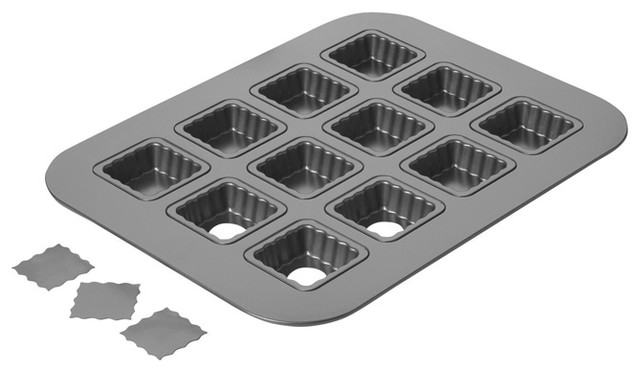 Chicago Metallic Lift and Serve Single Squares contemporary-cupcake-and-muffin-pans