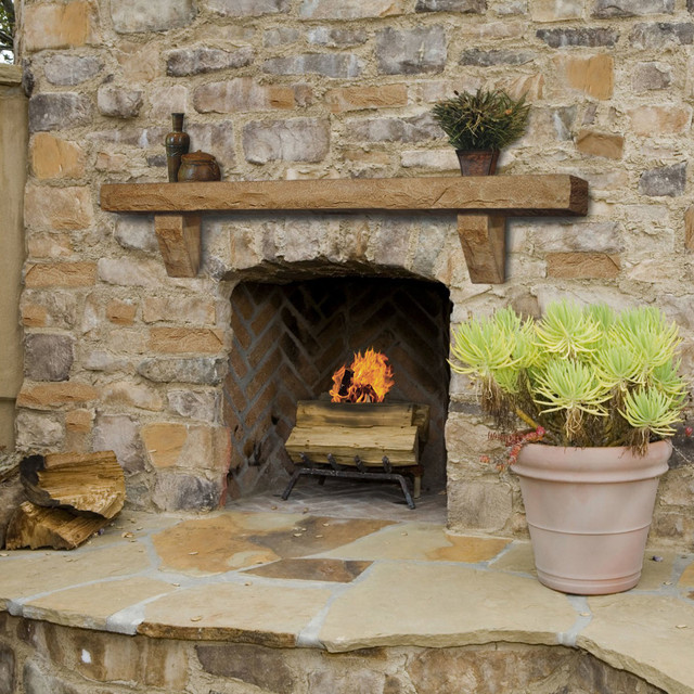 Fireplace mantels craftsman fireplace mantels for Craftsman fireplace designs