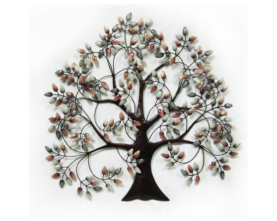 Bouncing Tree Metal Wall Art - The Bouncing Tree Metal Wall Art is an eye-catching decor that can be displayed inside or outside. Beautifully handcrafted from metal with expertly applied finishing that brings out the charm of this wall art.