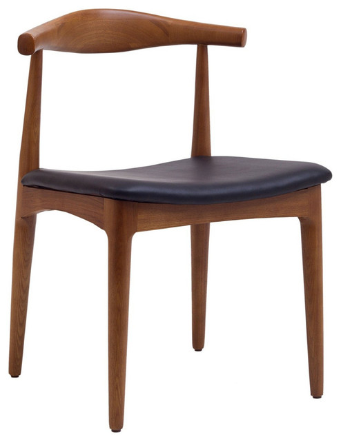Tracy Wood Dining Chair with Faux Leather Seat midcentury-dining-chairs