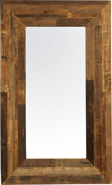 Angora reclaimed wood frame mirror eclectic wall