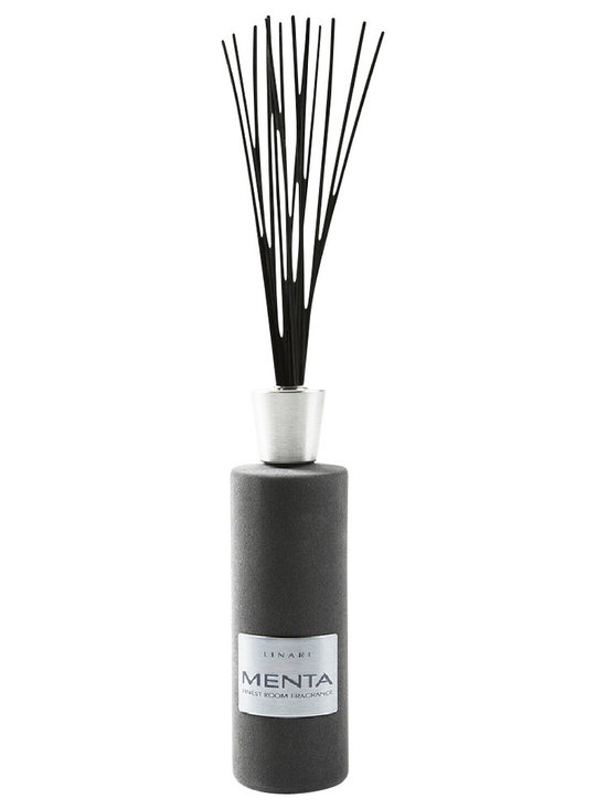 Linari - Linari Diffuser- Amarena - The mission of LINARI is to combine high-quality room fragrances with timeless modern designs. LINARI uses only high quality materials including exquisite Italian glass and lids carved out of solid refined maple wood, African wenge wood and zebrano wood. The evaporating sticks are made of high quality tropical plants and therefore are able to achieve an optimal capillary effect. The fragrance emits very slowly and, therefore, lasts a long time.