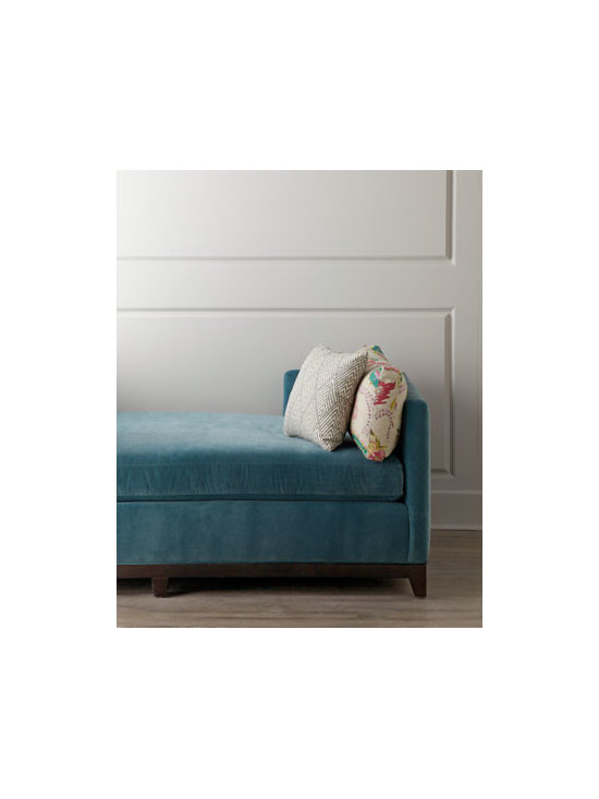 """Lee Industries - Lee Industries """"Lena"""" Daybed - Sleek, contemporary daybed offers comfortable seating by day and restful slumber by night. Frame made of engineered hardwood with mortise-and-tenon construction. Base made of kiln-dried red oak. Stretch-webbing support system with polyurethane foam p..."""