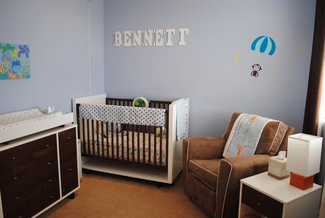 Modern Blue Nursery kids
