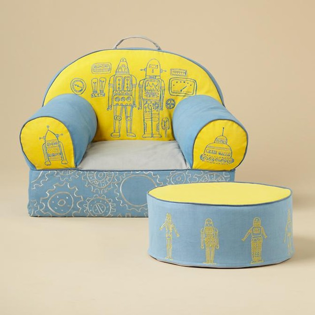 Robot Nod Chair and Noddoman Ottoman - Contemporary - Kids Chairs - by The Land of Nod