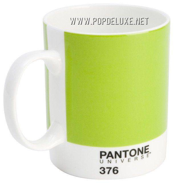 Pantone Universe™ Bone China Mug, Mushy Pea modern glassware