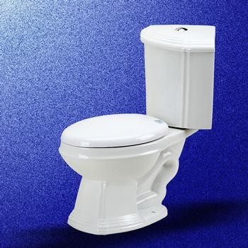 Corner Toilet : China Corner Toilet Sheffield Dual Flush Elong - Traditional - Toilets ...