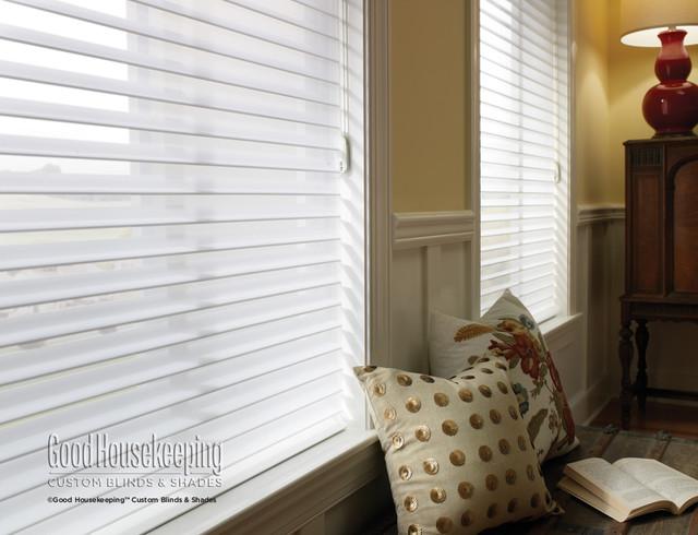 Soft Sheer Shades - Horizontal Sheer Shades contemporary-window-blinds
