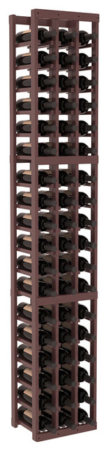 3 Column Standard Wine Cellar Kit in Pine, Walnut + Satin Finish contemporary-wine-racks
