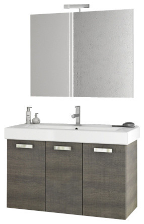 40 Inch Grey Oak Bathroom Vanity Set contemporary-bathroom-vanities-and-sink-consoles