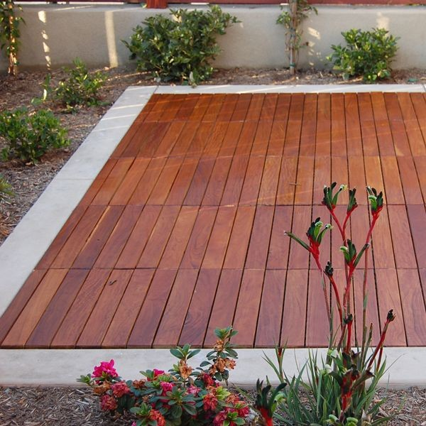 Outdoor deck tiles outdoor rugs chicago by home for Hardwood outdoor decking
