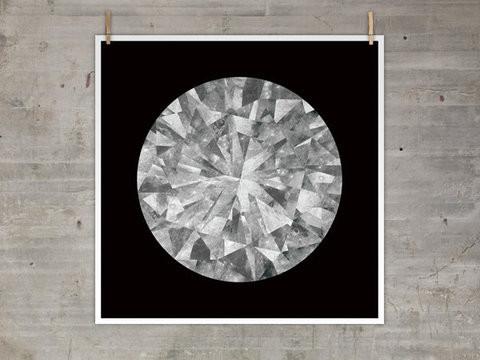Moon Diamond Print modern-artwork