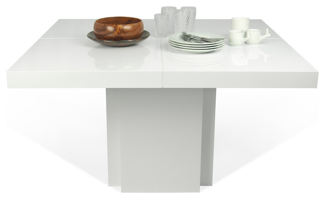 Dusk 59 Dining Table High Gloss White Modern Dining Tables By