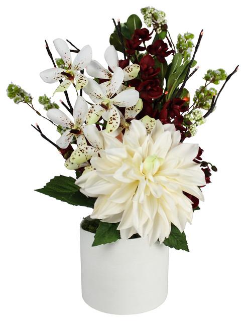 Christmas Bouquet Illuminated Floral Design White
