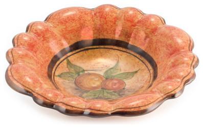 Pompei: Round Centerpiece Bowl Scalloped mediterranean-decorative-bowls