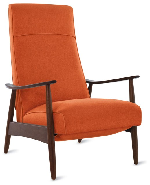 Milo Baughman Recliner 74 in Fabric modern-accent-chairs
