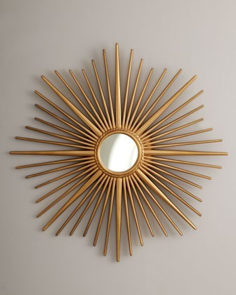 Golden Sunburst Mirror Eclectic Wall Mirrors Other
