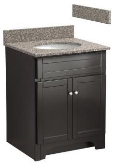 Foremost Columbia 24-in. Single Bathroom Vanity with Burlywood Granite Top - Esp modern-bathroom-vanities-and-sink-consoles
