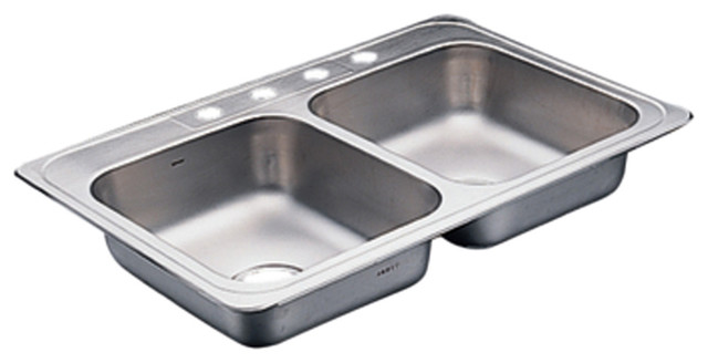 Commercial Stainless Steel Double Bowl Sink - Modern - Bathroom Sinks ...