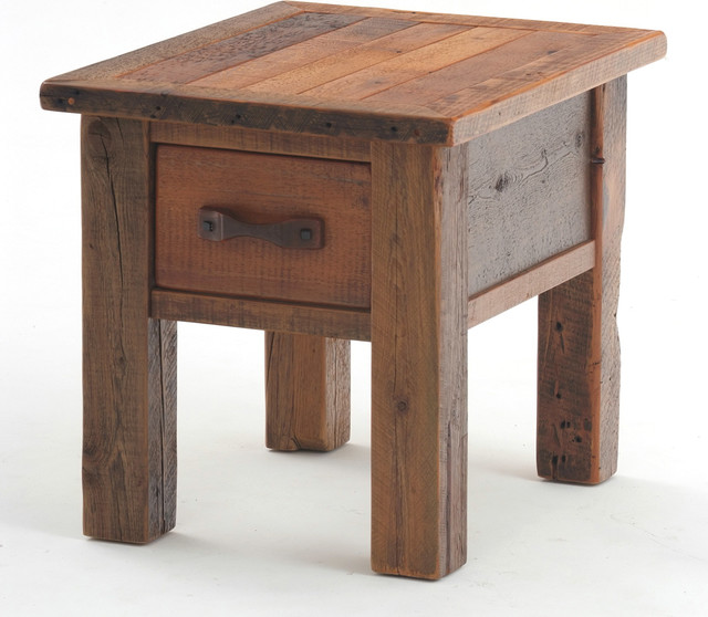 Reclaimed Barnwood End Table Or Nightstand Rustic Side
