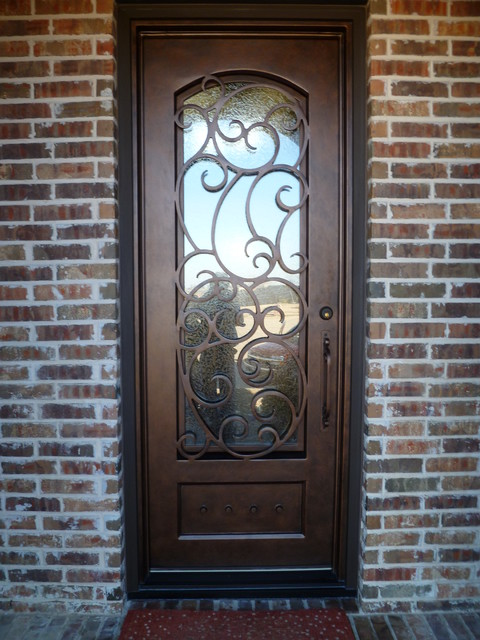 Decorative Steel Front Entry Doors : Custom iron door