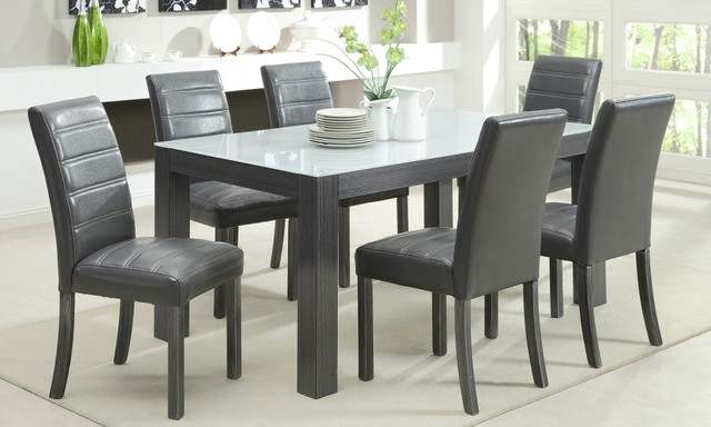 Tridel 7 Piece Grey Wood Dining Set