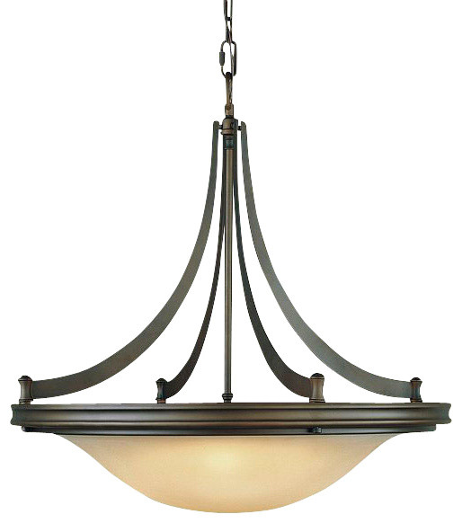 4 Bulb Oil Rubbed Bronze Chandelier Transitional