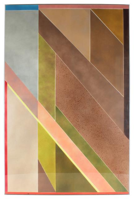 1977 Pastel Airbrush Angular Original Abstract contemporary-originals-and-limited-editions