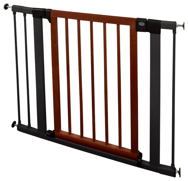 Wood Steel Designer Safety Gate Traditional Baby