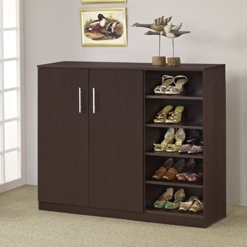 Grande Multi Purpose Shoe Cabinet Walnut Modern