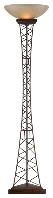 Contemporary eiffel tower torchiere contemporary floor for Modern tower floor lamp