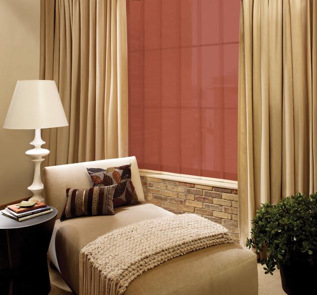 skyline drapes, blinds hunter douglas contemporary-window-treatments