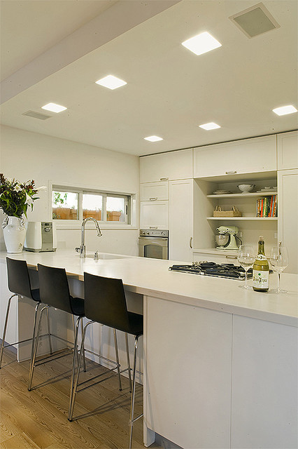 view of the island from within the kitchen contemporary-kitchen