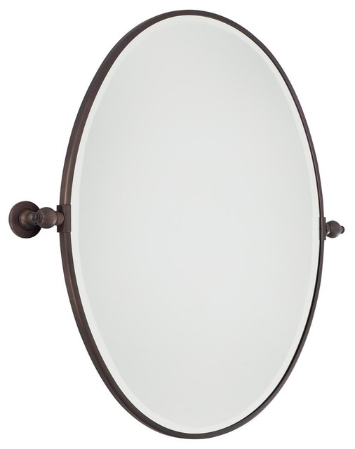 Oval Tilt Bathroom Mirror Large - 3 finishes bathroom-mirrors