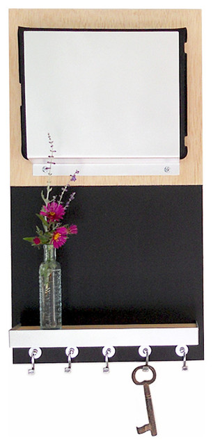 ipad magazine mail chalkboard key organizer message center wall mount seattle transitional. Black Bedroom Furniture Sets. Home Design Ideas